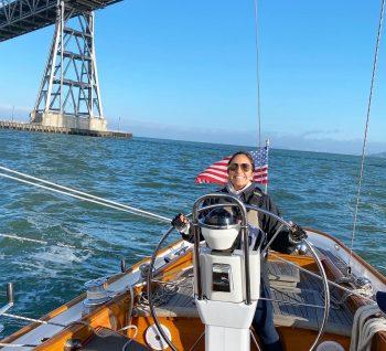 Alicia sailing